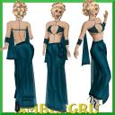 Deep Blue Gown