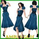 Floral Lace Blue